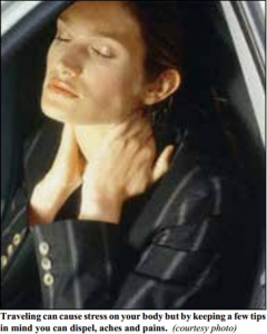 woman in obvious neck  pain